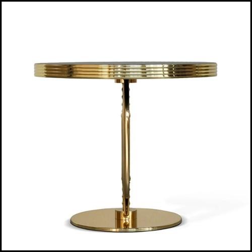 Table de repas en acier inoxydable finition gold 24-Triumph Gold
