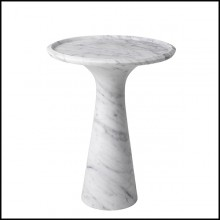 Table d'appoint en marbre massif 24-Pompano Low