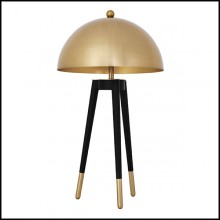 Table Lamp in gold finish and black legs 24-Coyote