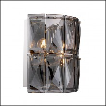 Wall Lamp in nickel finish and crystal glass 24-Amazone