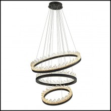 Chandelier in bronze finish and crystal glass 24-Randall