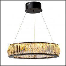 Chandelier in black finish and crystal glass 24-Vancouver S