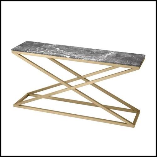 Canapé avec tissu velours coloris Bouclé Cream et base finition noir 24-Taylor Bouclé Cream