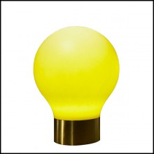 Floor Lamp in resin for indoor or outdoor use 111-Colored Changed Bulb