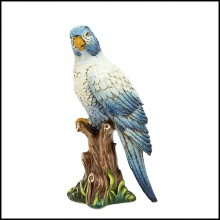 Sculpture in ceramic 162-King High Parrot