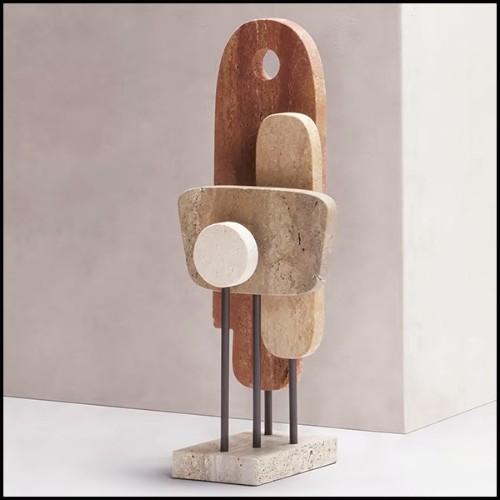 Lampe en laiton massif finition vintage bronze matte 165-Lewis