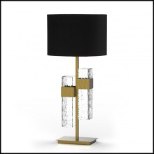 Table Lamp in solid brass in vintage bronzed matte finish 165-Lewis