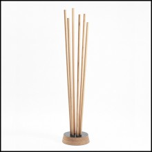 Coatrack in solid French oak from sustainable forests in France 112-Spindle