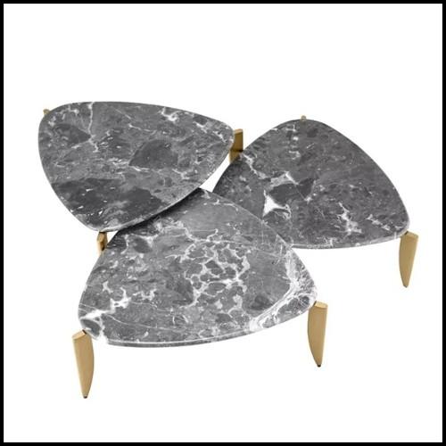 Cendrier avec cuir de veau avec motif croco finition black imprimé 189-Black Croco 2 Cigars Yachting