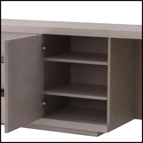 Ashtray with black shagreen finish printed 189-Black Shagreen 2 Cigars Yachting