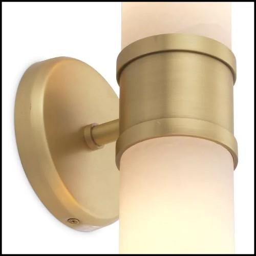 Lampe en aluminium coulé finition bleu chrome 184-Bow Tie Alu Blue XL or L