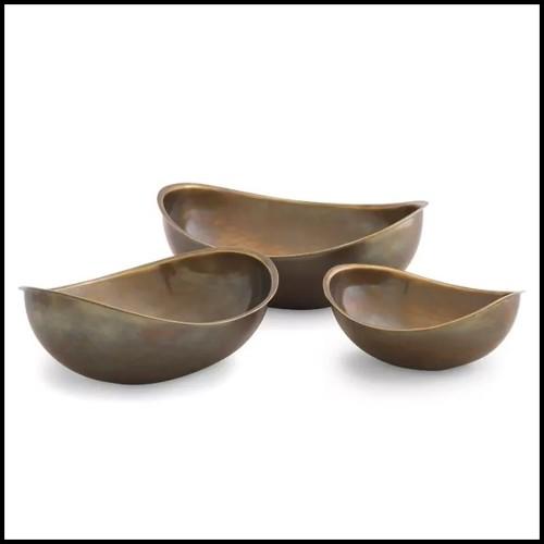 Lampe en aluminium coulé finition gold chrome 184-Bow Tie Alu Gold XL or L