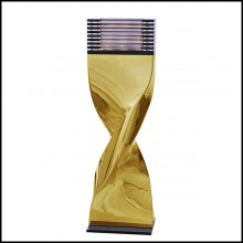 Table Lamp in casted aluminum in crafted gold finish 184-Bow Tie Alu Gold XL or L