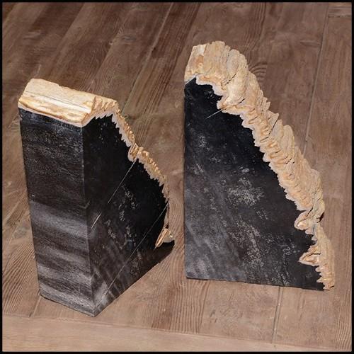 Cup in varnished solid ebony wood PC-Ebony Dark Medium