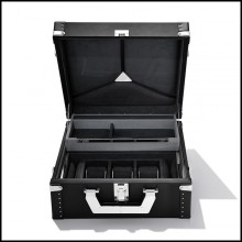 Suitcase with black cowhide leather sheathing 186-Luxury Watch Black or Brown