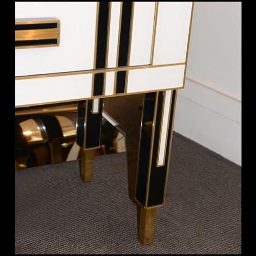Coffre à vin en bois finition Mustique green et détails finition gold 24-Martini Bianco
