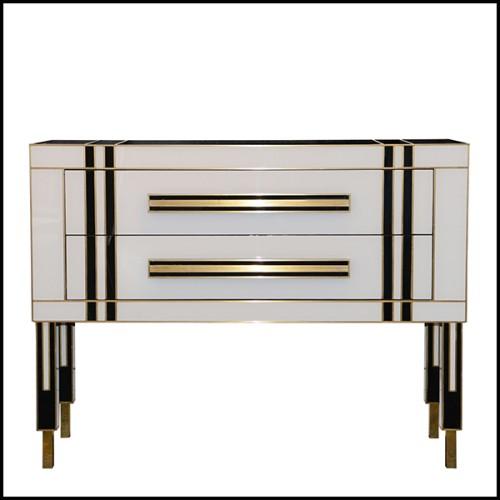 Table basse finition bronze et verre clair 24-Aventura