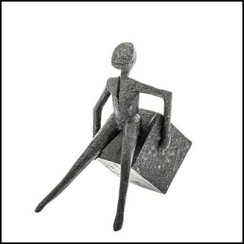 Chaise en acier inoxydable poli avec tissu velours finition Savona Midnight Blue 24-Clubhouse Blue
