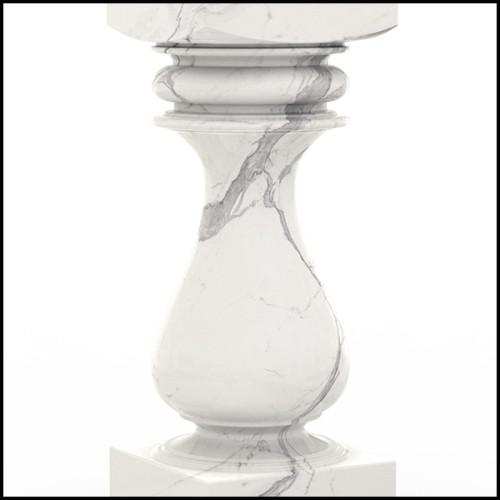 Lampe en marbre avec base en laiton finition antique et abat-jour noir 24-Newman Black