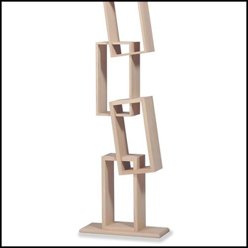 Table d'appoint en acier inoxydable finition cuivre brossé et verre clair 24-Gilmore