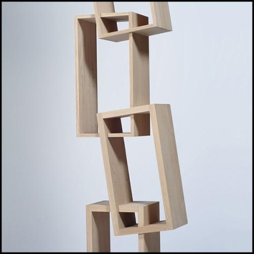Table basse en acier inoxydable finition cuivre brossé et marbre résine 24-Tricolori