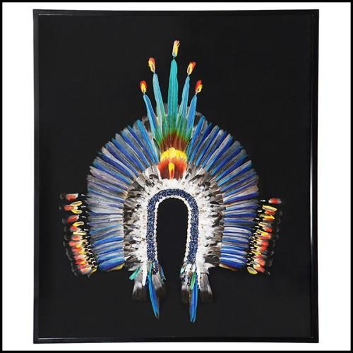 Remontoir de montre en aluminium noirci finition nickel 185-Gold Leather