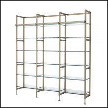 Cabinet in stainless steel in brushed brass finish 24-Delano