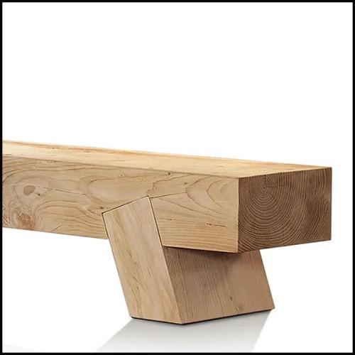 Chaise en bois avec tissu velours finition roche black 24-Willis Set of 2