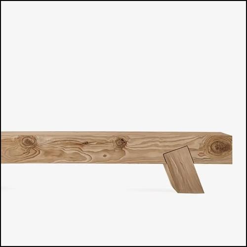 Chaise en bois avec tissu velours finition Savona Dark Green 24-Willis Green