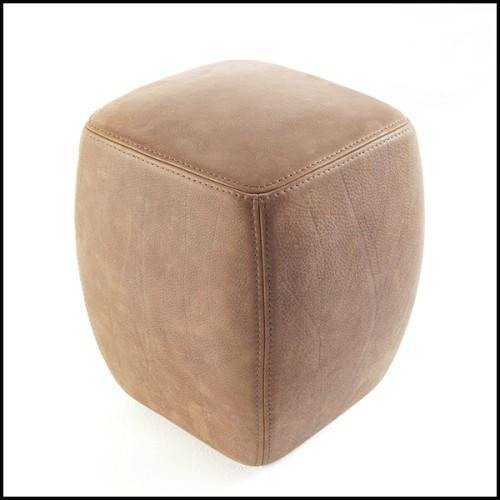 Chaise en bois avec tissu velours finition Savona Grey 24-Willis Grey