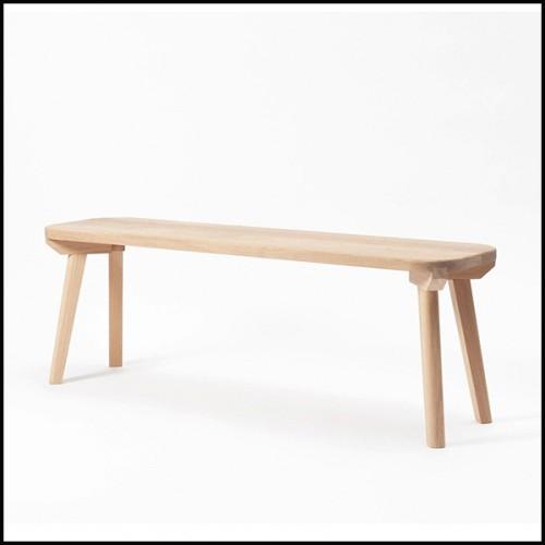 Chaise en bois avec tissu velours finition Savona Greige 24-Willis Greige