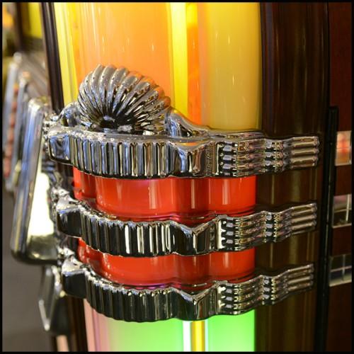 Sculpture en résine finition bronze patiné style cubisme 119-Rhino