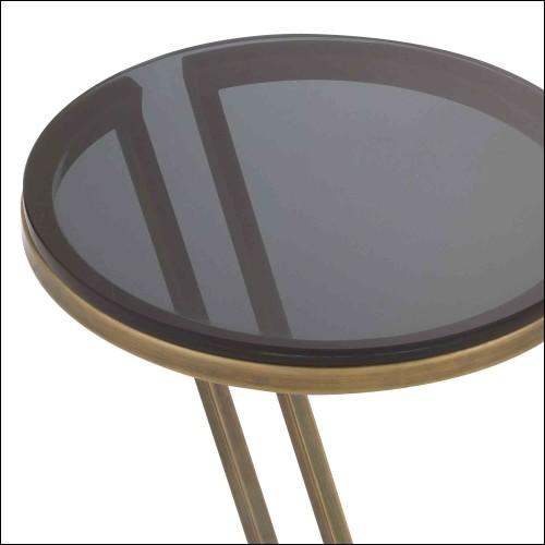 Coffre avec structure en acier inoxydable finition gold et panneaux en acrylique 24-Exposed
