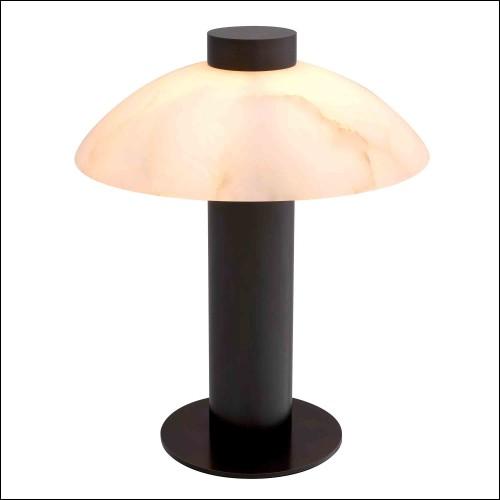 Mirror in vintage brass finish with round bevelled mirror glass 24-Nikki