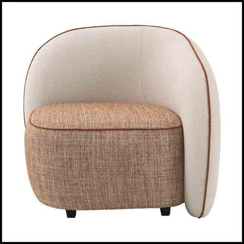 Table d'appoint avec plateau en faïence et finition laiton et base en acajou massif 172-Callas Large