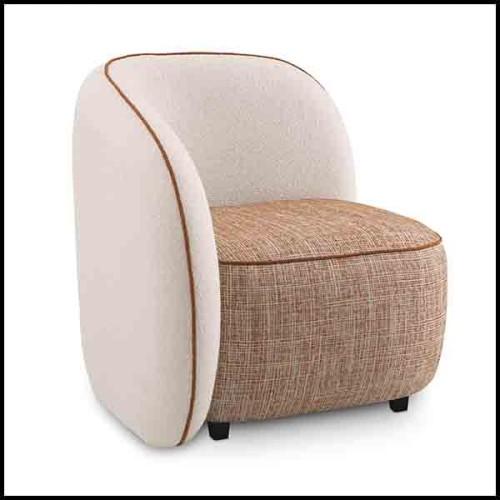 Table d'appoint avec plateau en faïence et finition laiton et base en acajou massif 172-Callas Medium