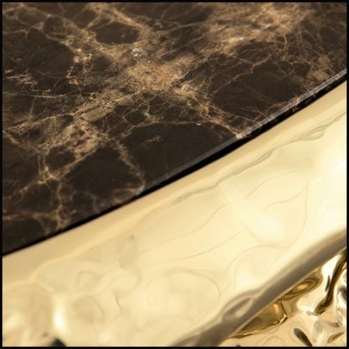 Armoire ou étagère en bois massif laqué noir décoré d'inserts de feuilles d'or et de poudre d'or 191-Riyad