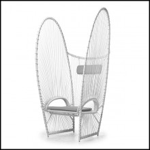 Chair with aluminium frame and with polyethylene Indoor-outdoor use178-Butterfly