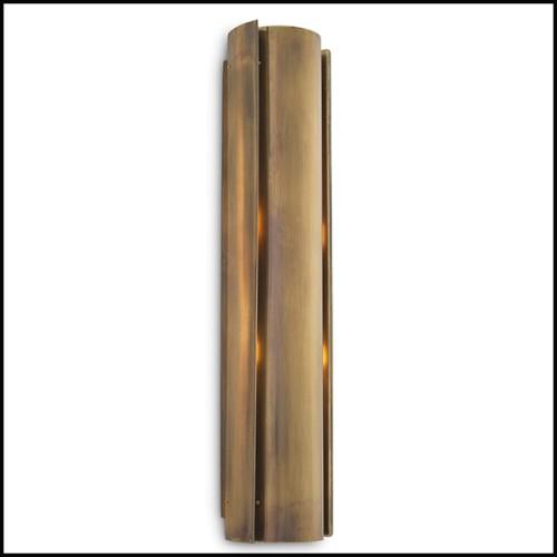Table basse avec base en fer laqué finition irondust et avec plateau en chêne massif finition noire 154-Jay Black Oak