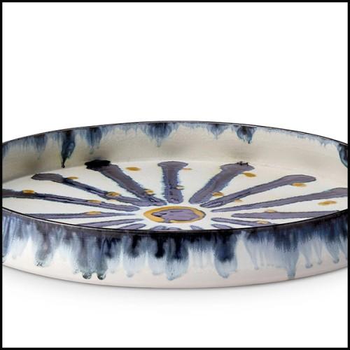 Table basse avec base en fer laqué finition irondust et plateau en noyer massif 154-Jay Walnut