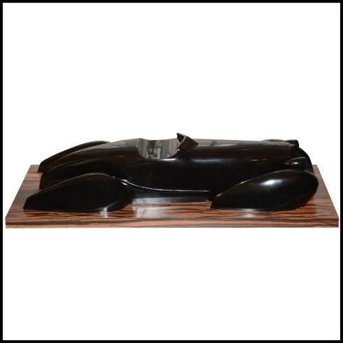 Horloge avec structure en acier finition nickel et cuir marron 24-BAXTER