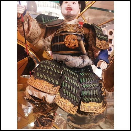 Table de repas avec plateau en bois de chêne massif et base en fer laquée rouge 154-Oak Slats Red
