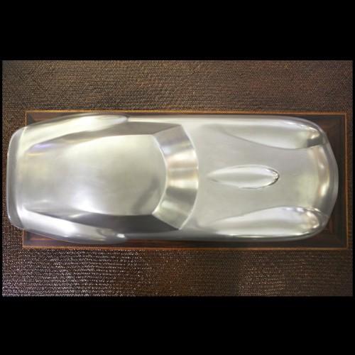 Horloge avec structure en acier finition nickel et cuir marron 24-WUNSCH & MANN