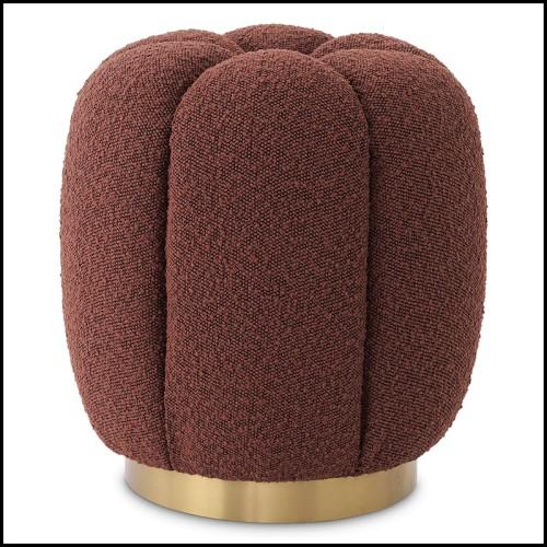 Table d'appoint finition gold et avec plateaux haut et bas en verre biseauté 162-Casiopee Gold