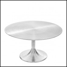 Table basse en aluminium cerclé finition nickel 162-Alu nickel