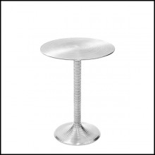 Side table in gilded circled aluminium 162-Alu Nickel