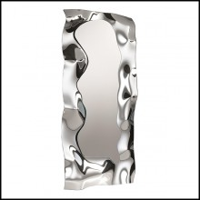 Mirror in high temperature fused mirror glass with polished metal frame 146-Slinking Full