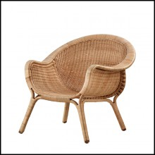 Armchair all handmade in Manau rattan 41-Talia
