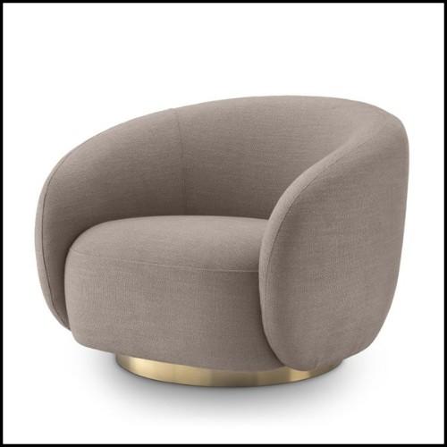 Table basse finition gold et avec plateaux haut et bas en marbre blanc 162-Liz White