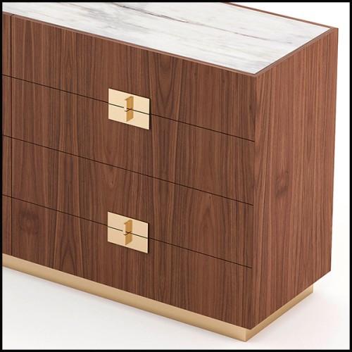 Miroir avec cadre en bois massif finition laqué noir et miroir en verre biseauté 119-Twiggy